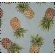Tissu Jacquard Pineapple Turquoise