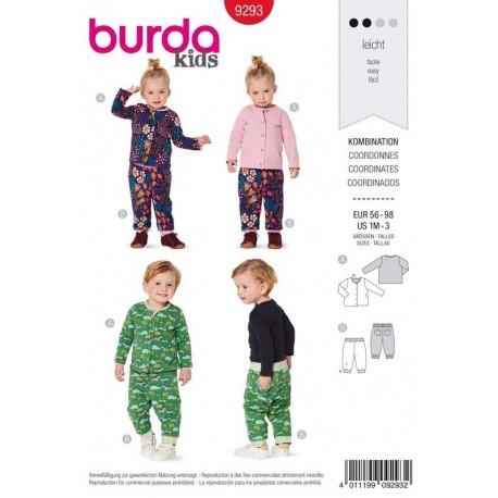 Patron Burda 9293 Kids Veste/pantalon 56/98