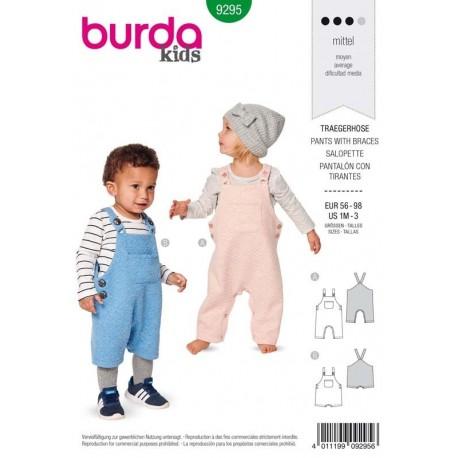 Patron Burda 9295 Kids Salopette 56/98