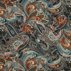 Tissu Jersey Viscose Luxe Bleu Marron