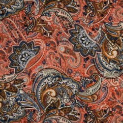 Tissu Jersey Viscose Luxe Terracotta