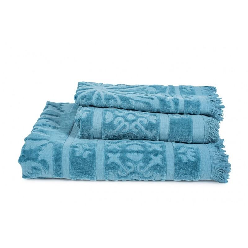 Linge de toilette Sumatra Bleu Stone