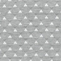 Tissu Juno triangle Gris Ecogreen