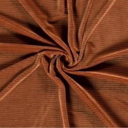 Tissu Velours Uni Brique