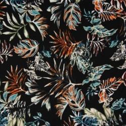 Tissu Jersey Viscose Luxe Bleu noir