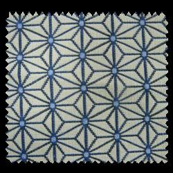 Tissu Jacquard coordonné Moby Bleu