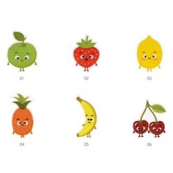 Ecusson Motif Fruit Enfantin