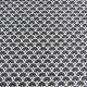 Tissu Eventails Dorés Cretonne Noir