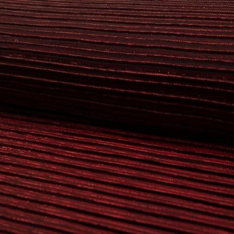 Tissu Plissé Brillant Bordeaux