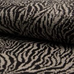 Tissu Sequin Animal Noir blanc