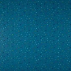 Tissu Coton Imprimé Triangle Pétrole