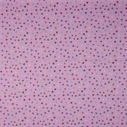 Tissu Coton Imprimé Triangle Rose