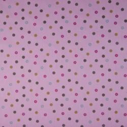 Tissu Coton Imprimé Pois Rose