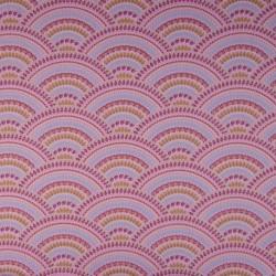 Tissu Coton Imprimé Ornement Rose
