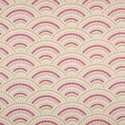 Tissu Coton Imprimé Ornement Ecru