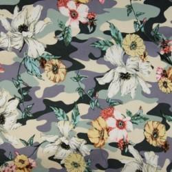 Tissu Coton Imprimé Fleur Lilas