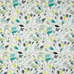 Tissu Jersey Bio Feuille Blanc