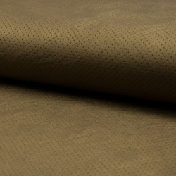 Tissu Simili Point Percé Bronze