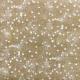 Tissu Toile de Jute Imprimé Etoile Blanc