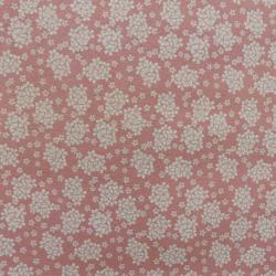 Tissu Imprimé Fleurs Rose
