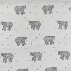 Tissu Baloo Imprimé Blanc