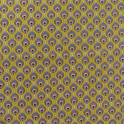 Tissu Peacock Imprimé Jaune