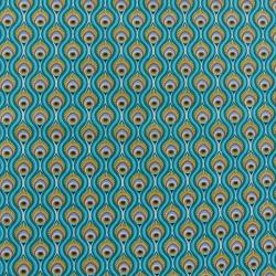 Tissu Peacock Imprimé Caraibes