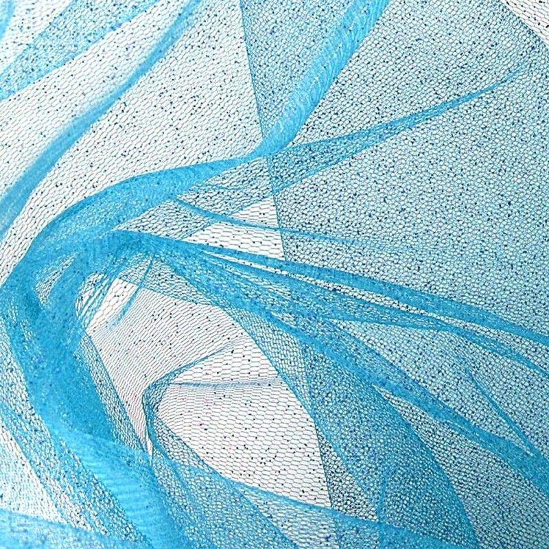 Tissu Tulle Paillette Turquoise