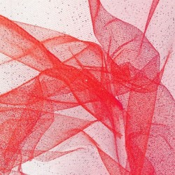 Tissu Tulle Paillette Rouge