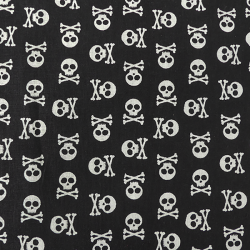 Tissu Albator Imprimé Noir