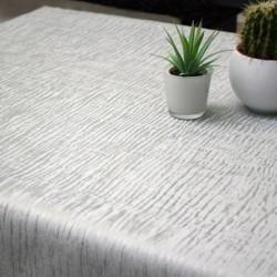 Tissu Toile Cirée Polyline Forest Argent