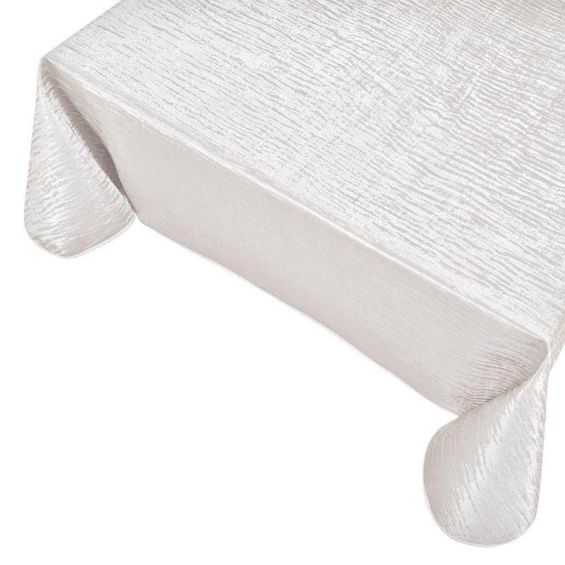 Tissu Toile Cirée Polyline Forest Blanc