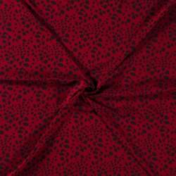Tissu Viscose Imprimé Animal Rouge