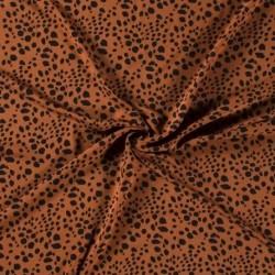 Tissu Viscose Imprimé Animal Brique