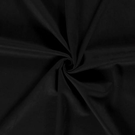 Tissu Effet Suedine Noir
