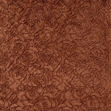 Tissu Fausse Fourrure Brique