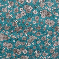 Tissu Florale Cretonne Ocean