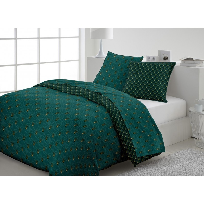 Linge de lit Percale Saphir Vert