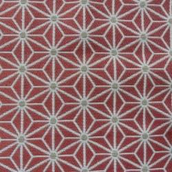Tissu Fluor Jacquard Etoile Terracotta