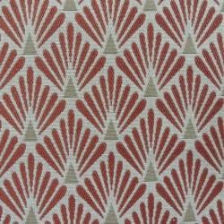 Tissu Fluor Jacquard Ecaille Terracotta