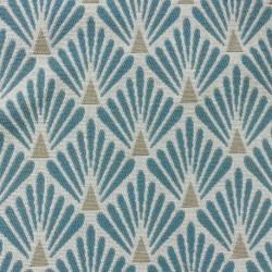 Tissu Fluor Jacquard Ecaille Bleu