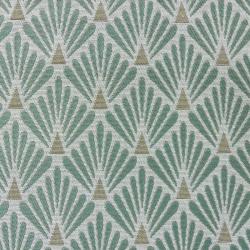 Tissu Fluor Jacquard Ecaille Vert