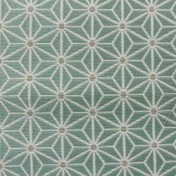 Tissu Fluor Jacquard Etoile Vert