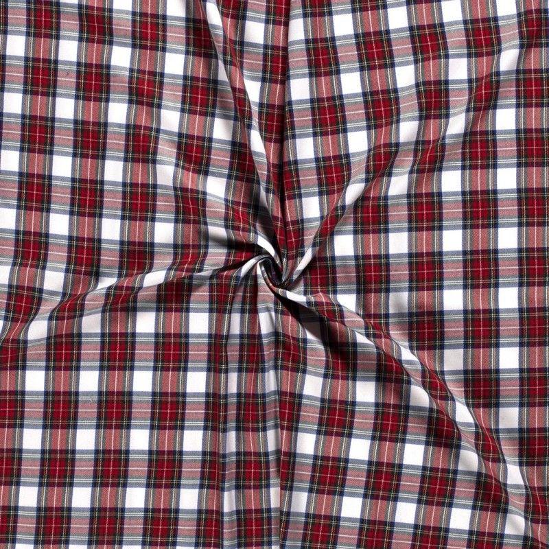 Tissu Ecossais Blanc