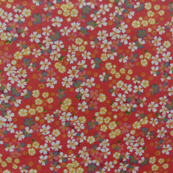 Tissu Sakura Cretonne Corail