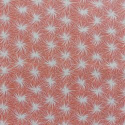 Tissu Futon Cretonne Corail