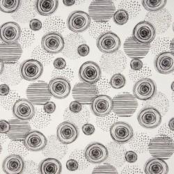 Tissu Coton Jersey Imprimé Cercle