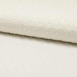 Tissu Plumetis Voile De Coton Ecru