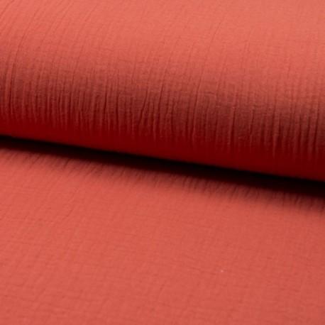 Tissu Double Gaze Uni Orange