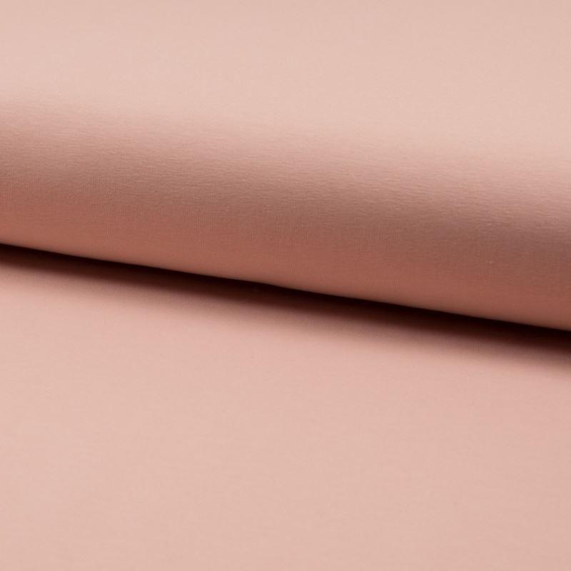 Tissu Jersey Coton Bio Uni Rose